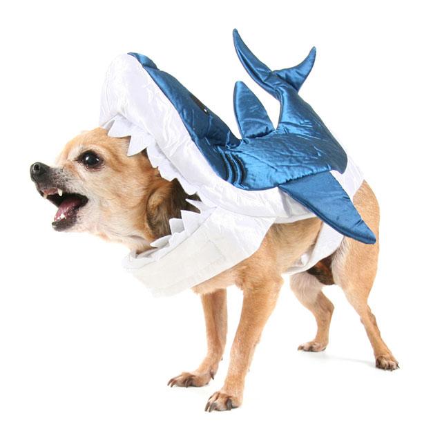 Grey Shark Attack Pet Costume Dog Cat Halloween Fish Sharknado Small Medium