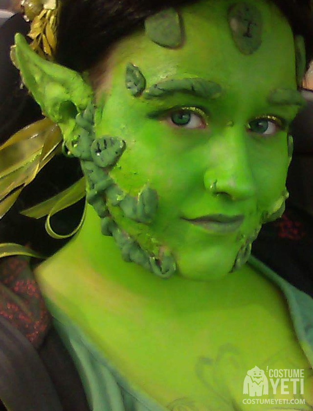 Green Fairy Costume and Makeup
