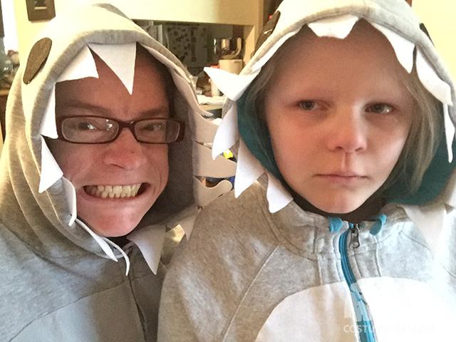 Homemade Shark Costumes