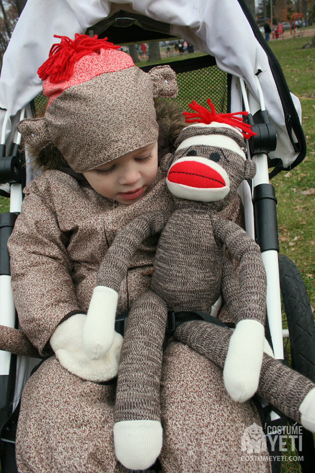 kids sock monkey costume