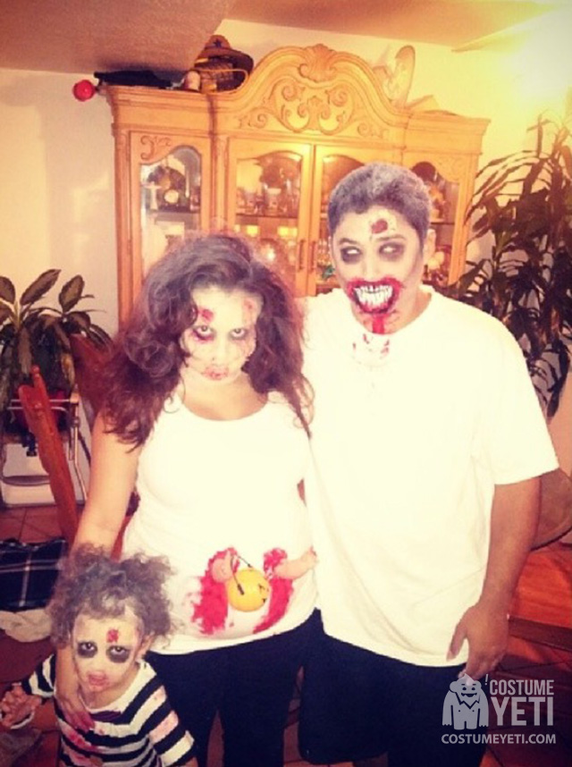 The Walking Dead Zombie Family Costumes