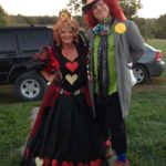Queen of Hearts and Mad Hatter Couples Costume