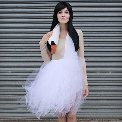 Bjork Swan Dress Costume Tutorial