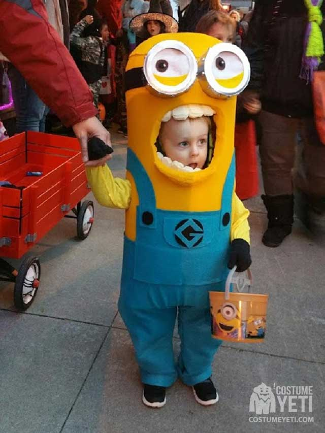 DIY No Sew Kevin the Minion Kids Costume
