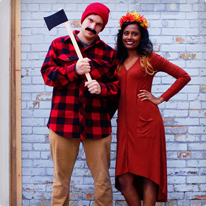 Easy Lumber Jack & Tree Costumes