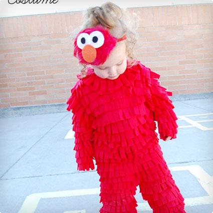 Elmo Costume DIY