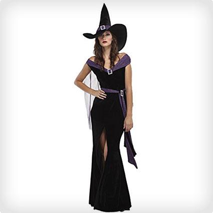 Glamorous Witch Halloween Costume