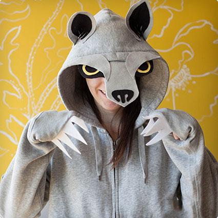 Homemade Wolf Hoodie