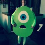 Handmade Mike Wazowski Costume from Monsters Inc