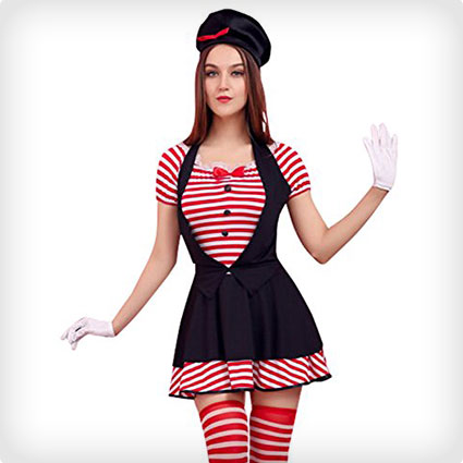 Naughty Candystriped Mime