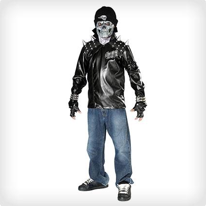 Skull Biker Costume