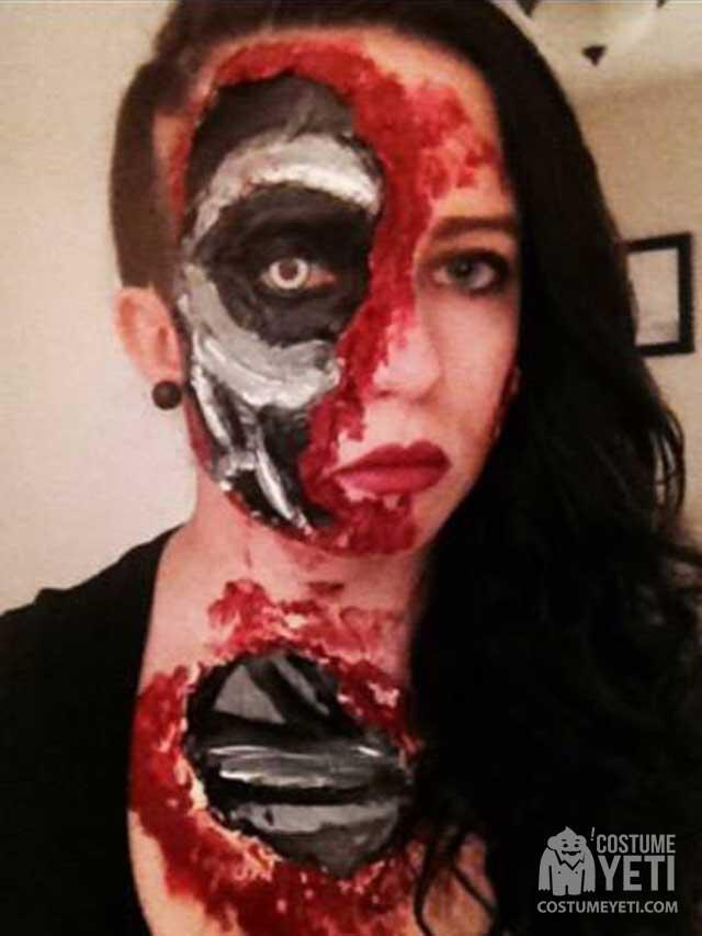 Terminator Face Makeup