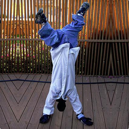 Upside-Down Man Costume DIY