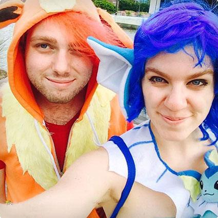 Vaporean & Flareon Pokemon Couple
