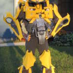 Epic DIY Kids Bumblebee Transformers Costume