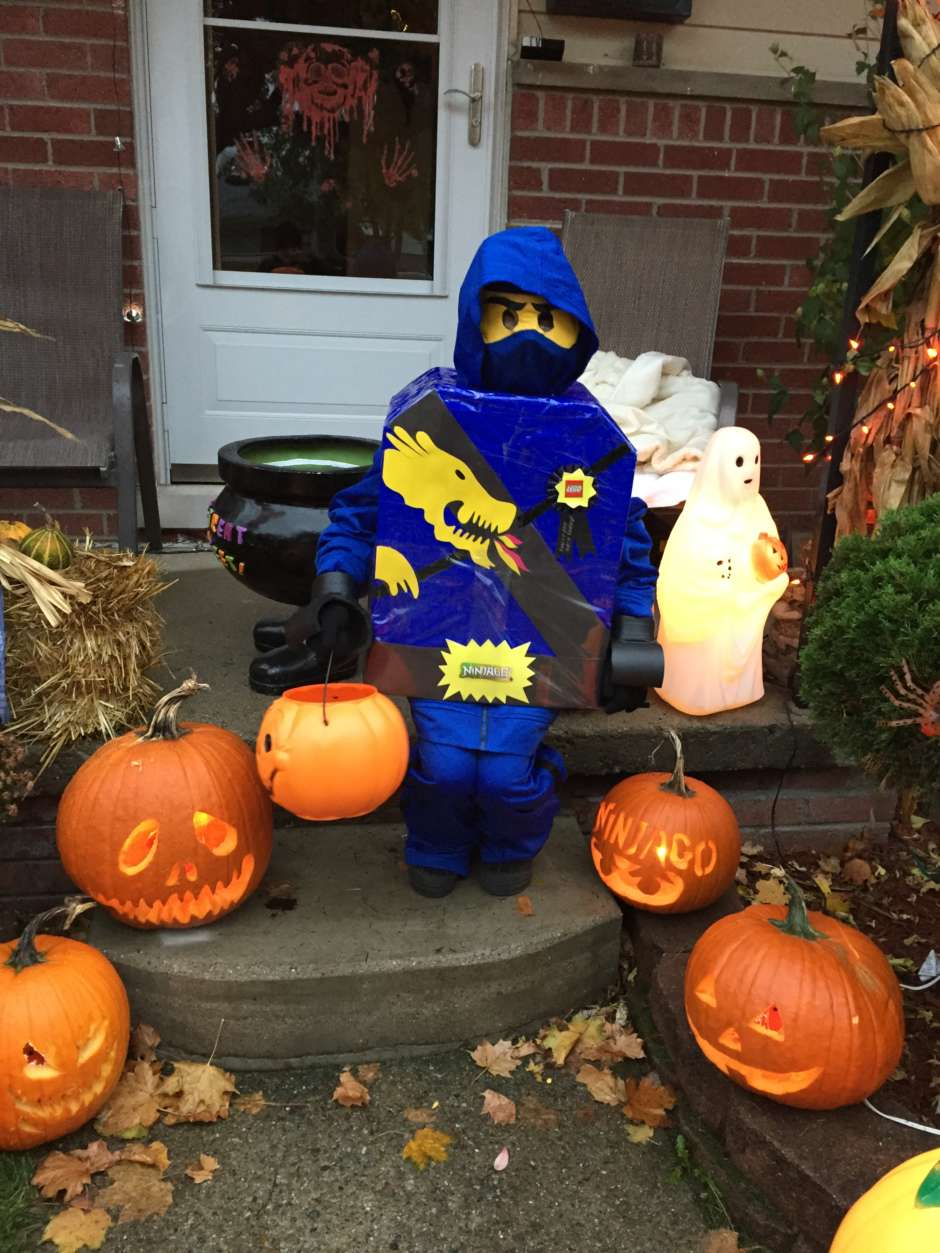 Blue Lego Ninjago DIY Kids Costume