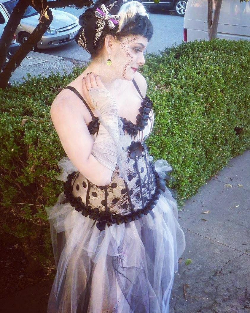 rockabilly bride of frankenstein costume - costume yeti
