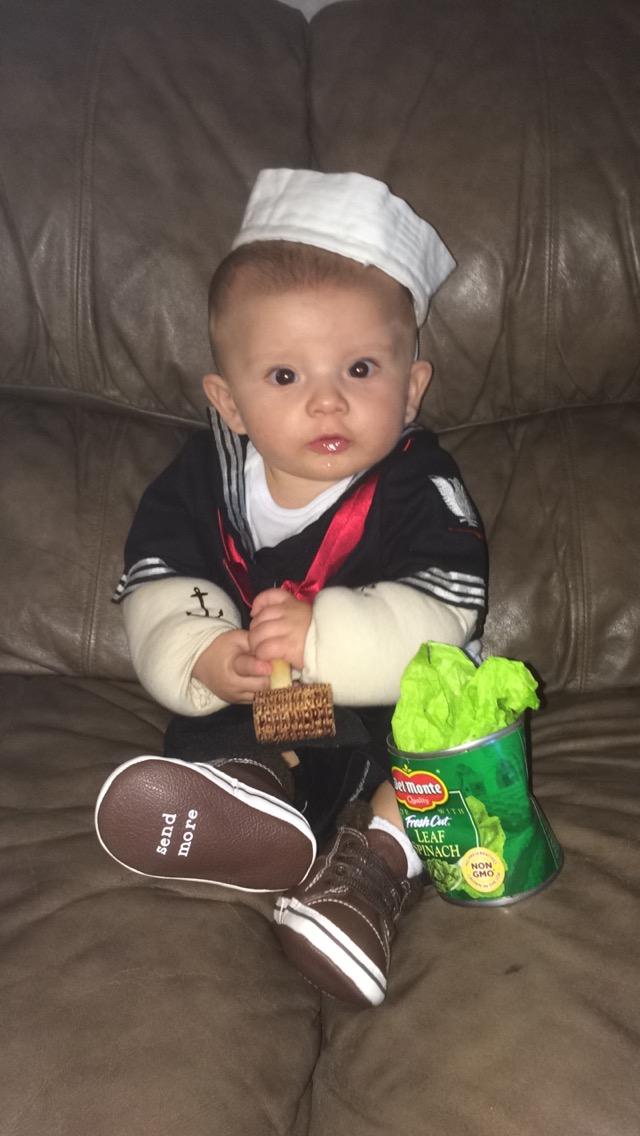 DIY Baby Popeye Costume