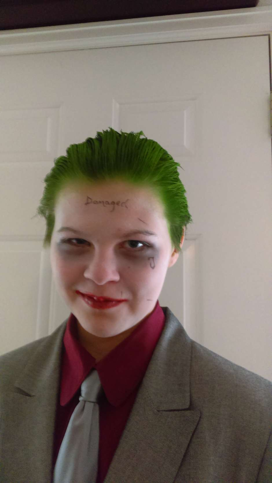 Homemade Teen Joker Costume