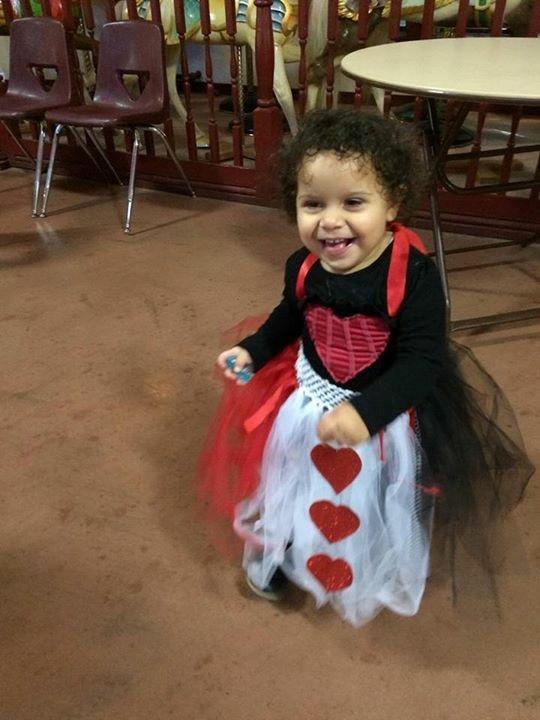 Little Heart Queen Girls Costume