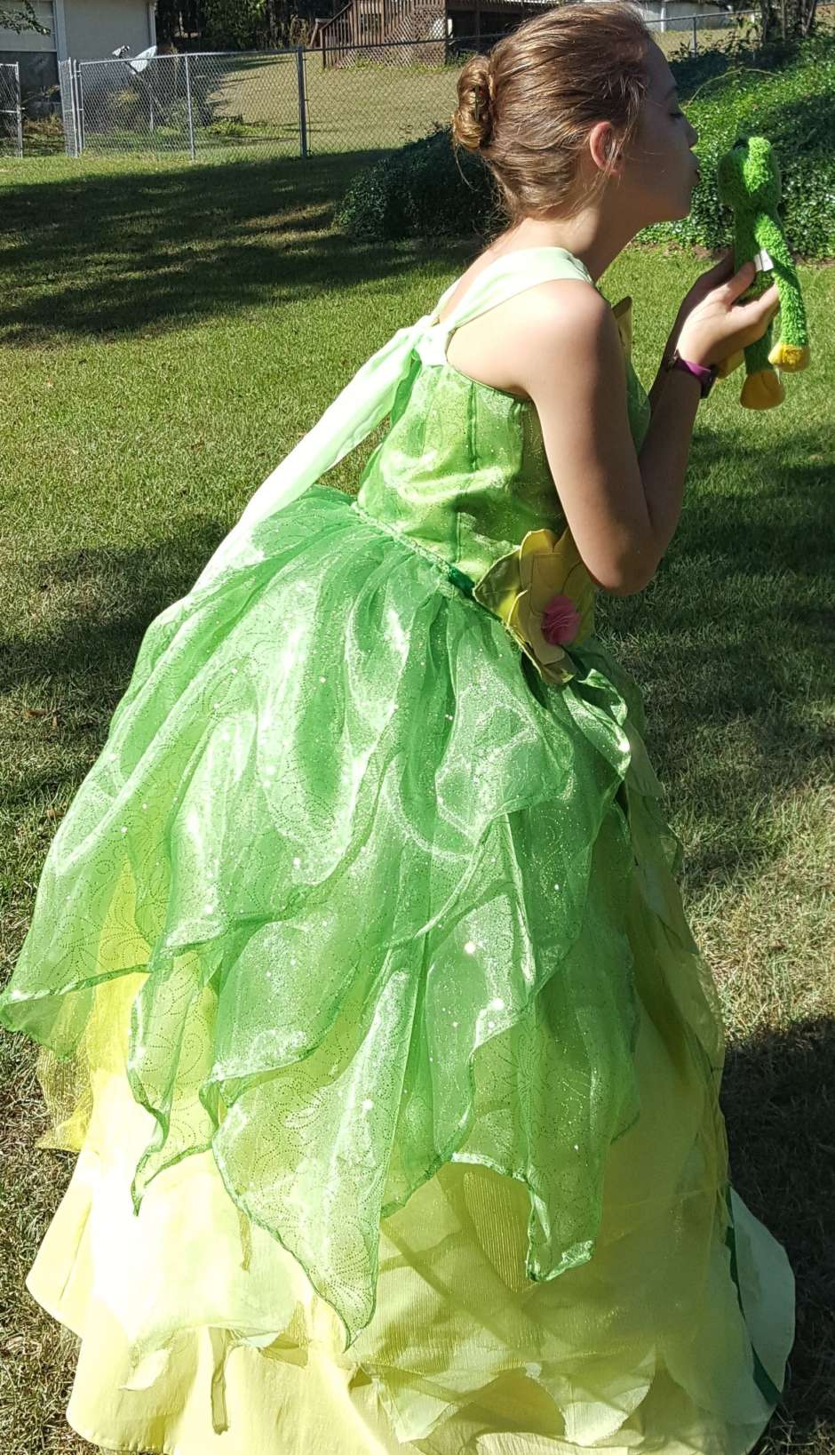 kids disney princess and the frog costume