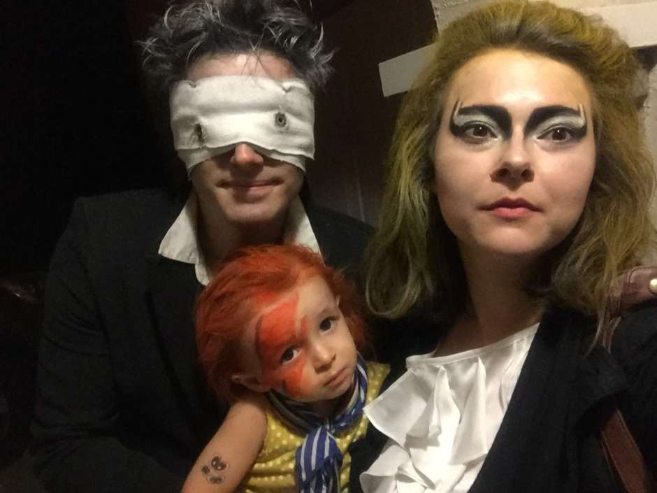 Trio Halloween Costume Ideas 2019.Diy Bowie Trio Family Halloween Costume Costume Yeti