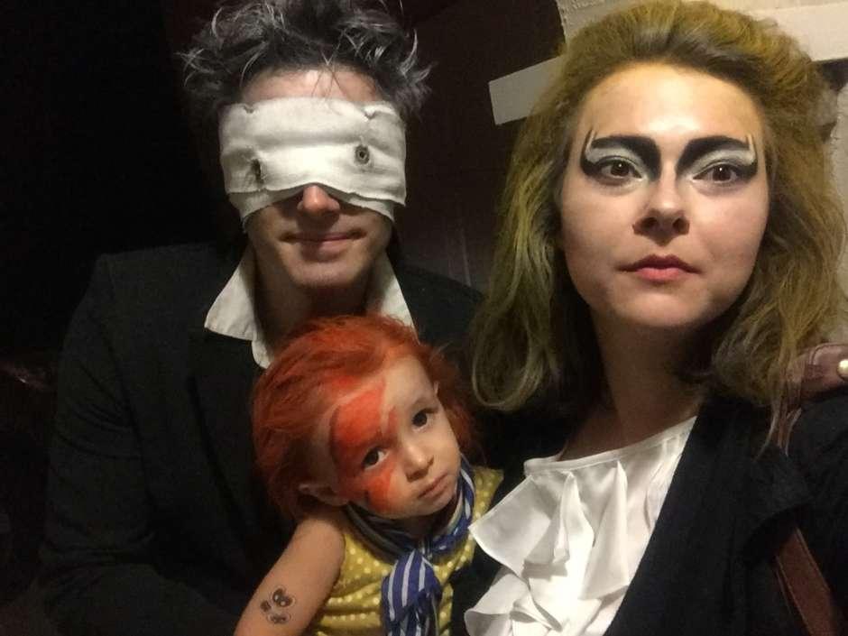 diy bowie trio family halloween costume