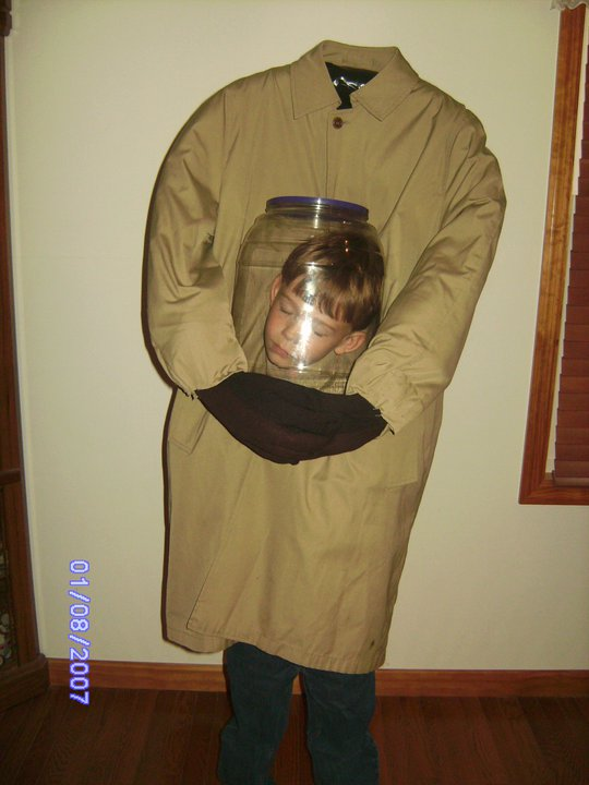 diy holding your head illusion costume for kids