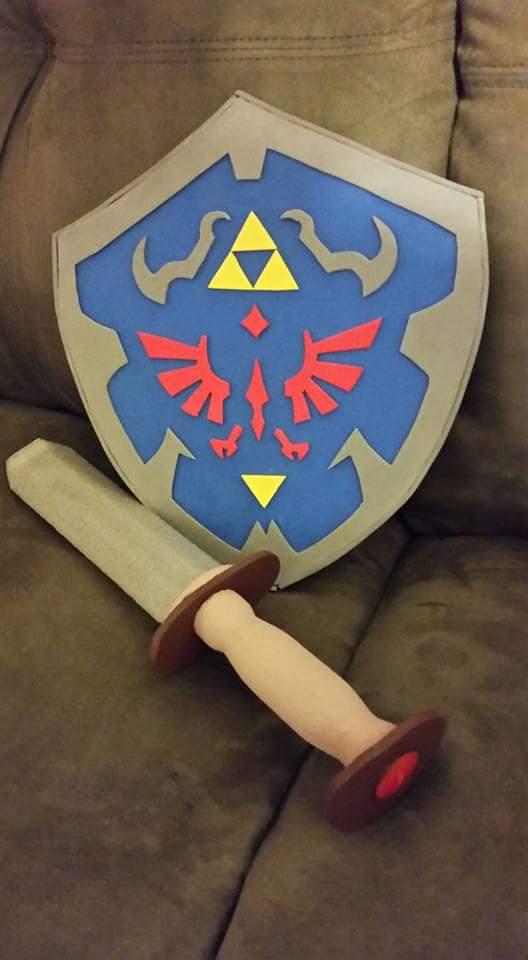 homemade legend of zelda sword and shield