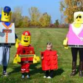 homemade lego family costumes