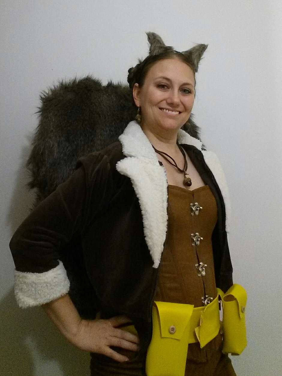 homemade squirrel girl costume