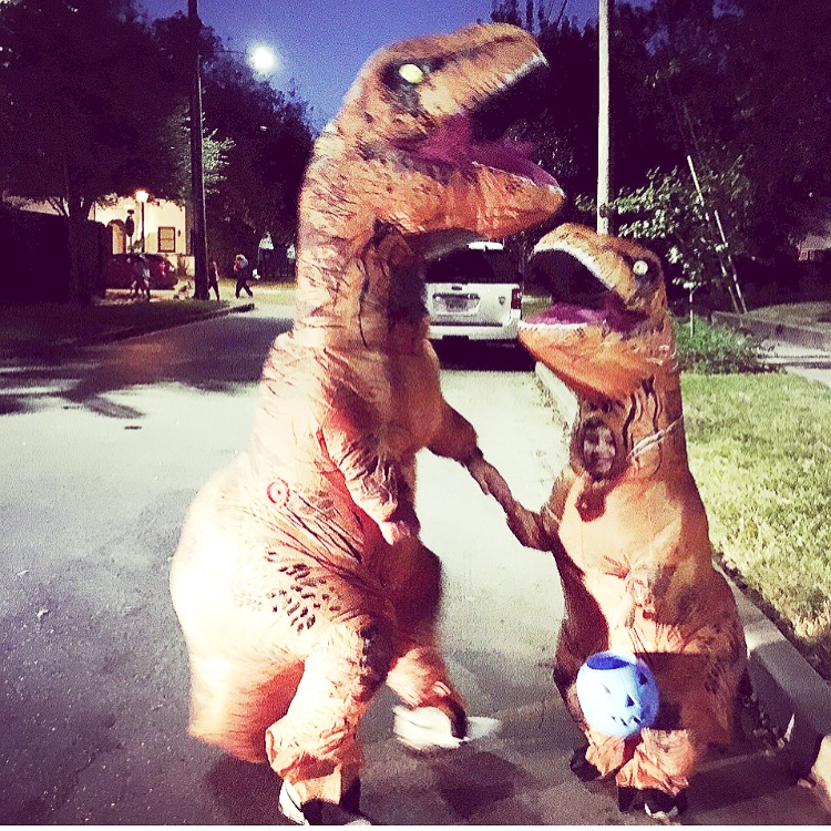 inflatable t rex costume