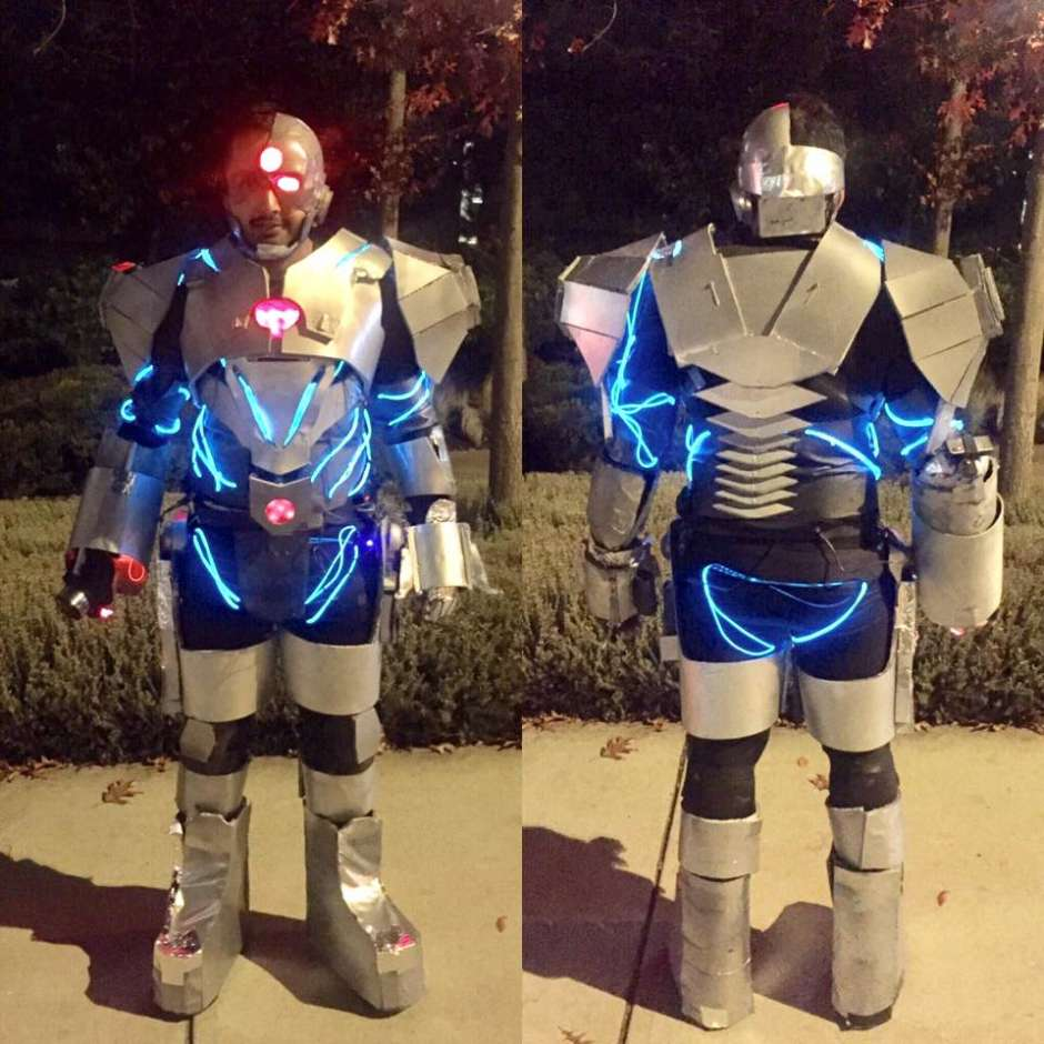 justice league adult cyborg costume