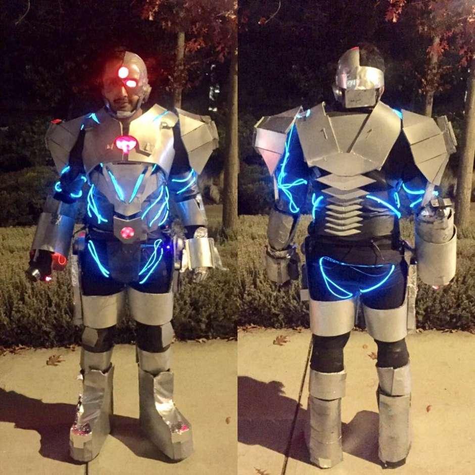 justice league adult cyborg costume
