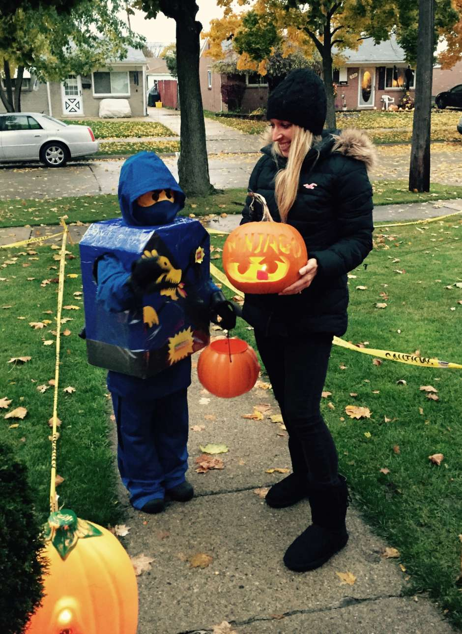 lego ninjago and mom & Epic Blue Lego Ninjago DIY Kids Costume   Costume Yeti