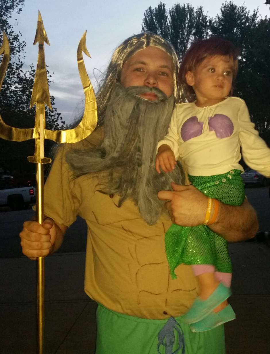 little mermaid and dad