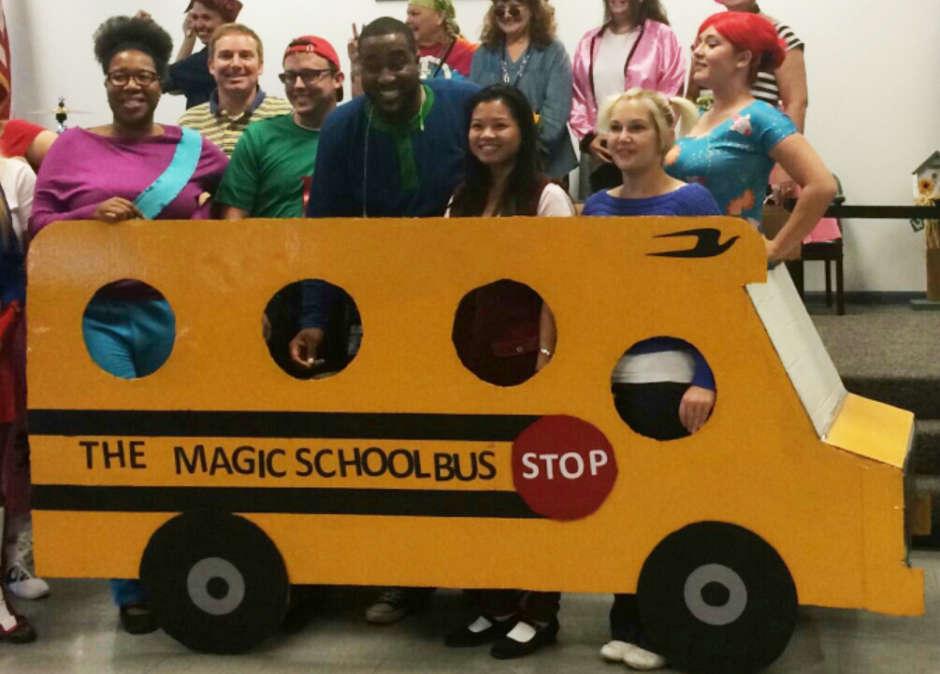 magic school bus group costume
