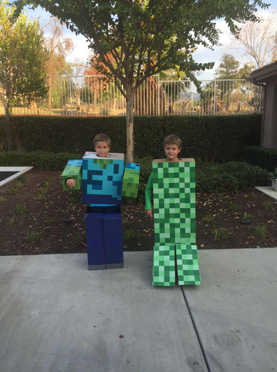 minecraft boys costume