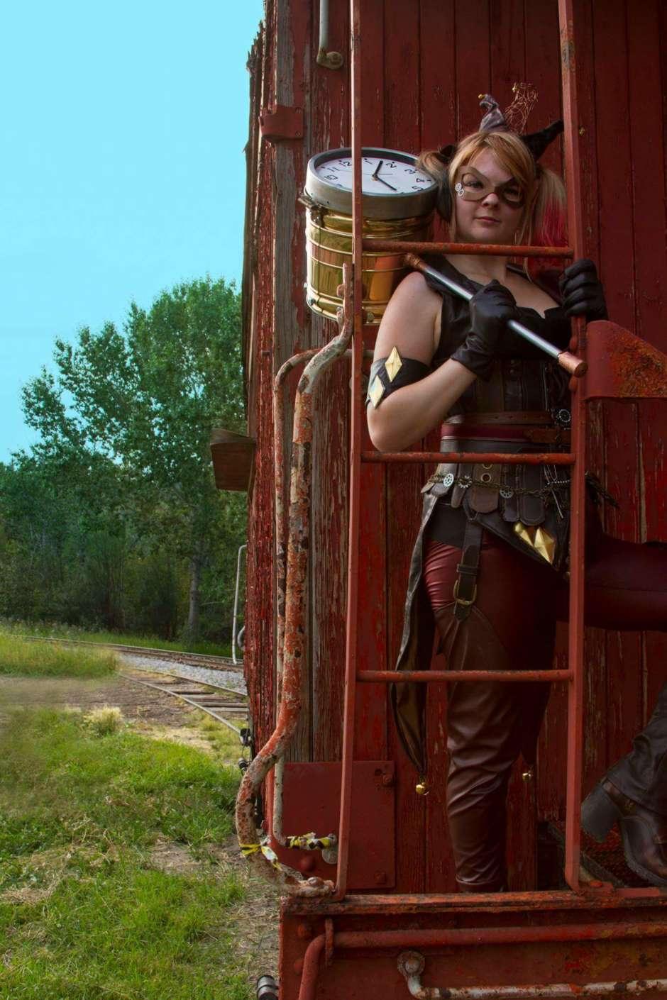 steampunk harley quinn costume
