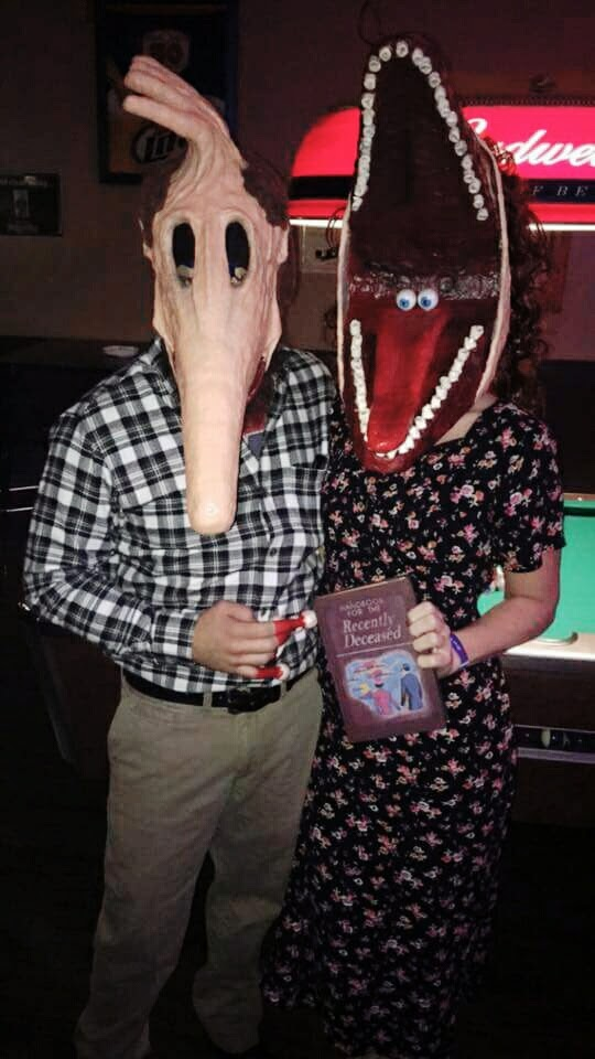 DIY Barbara and Adam Maitland Couples Beetle Juice Costume