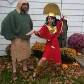 DIY Kuzco and Pacha Couples Costume from The Emperor's New Groove