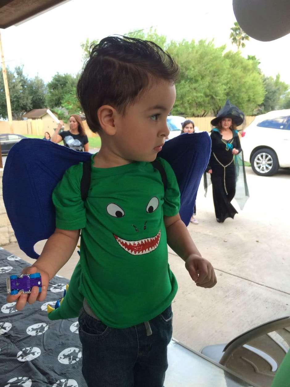 Easy DIY Dragon Costume for Toddlers