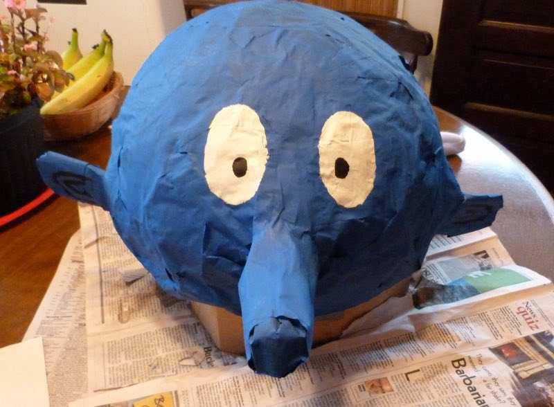 Homemade DIY Brainy Smurf Halloween Costume for Kids
