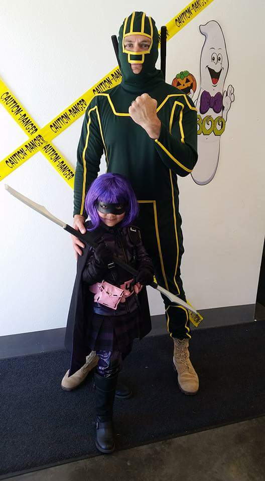 Kick Ass and Hit Girl Costumes for Dads and Daughters