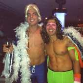 WWF The Ultimate Warrior and Rick Flair Costumes