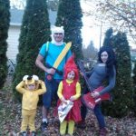 Homemade Adventure Time Family Costume