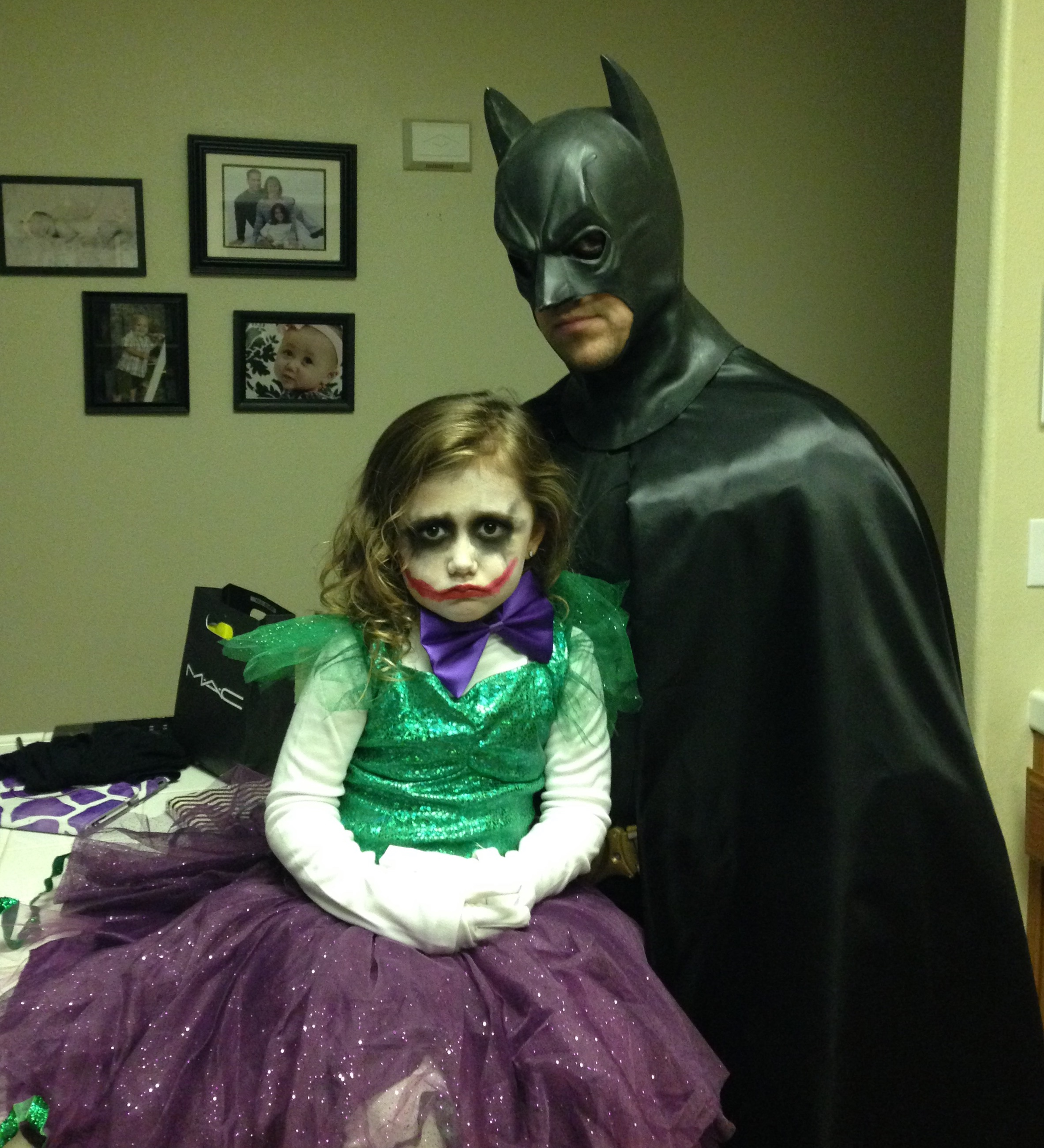 Batman And Joker Costume For Dads And Daugthers Costume Yeti