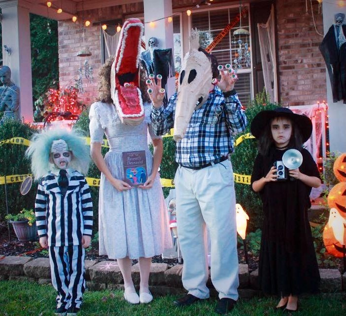 Incredible Homemade Beetlejuice Family Costume Costume Yeti