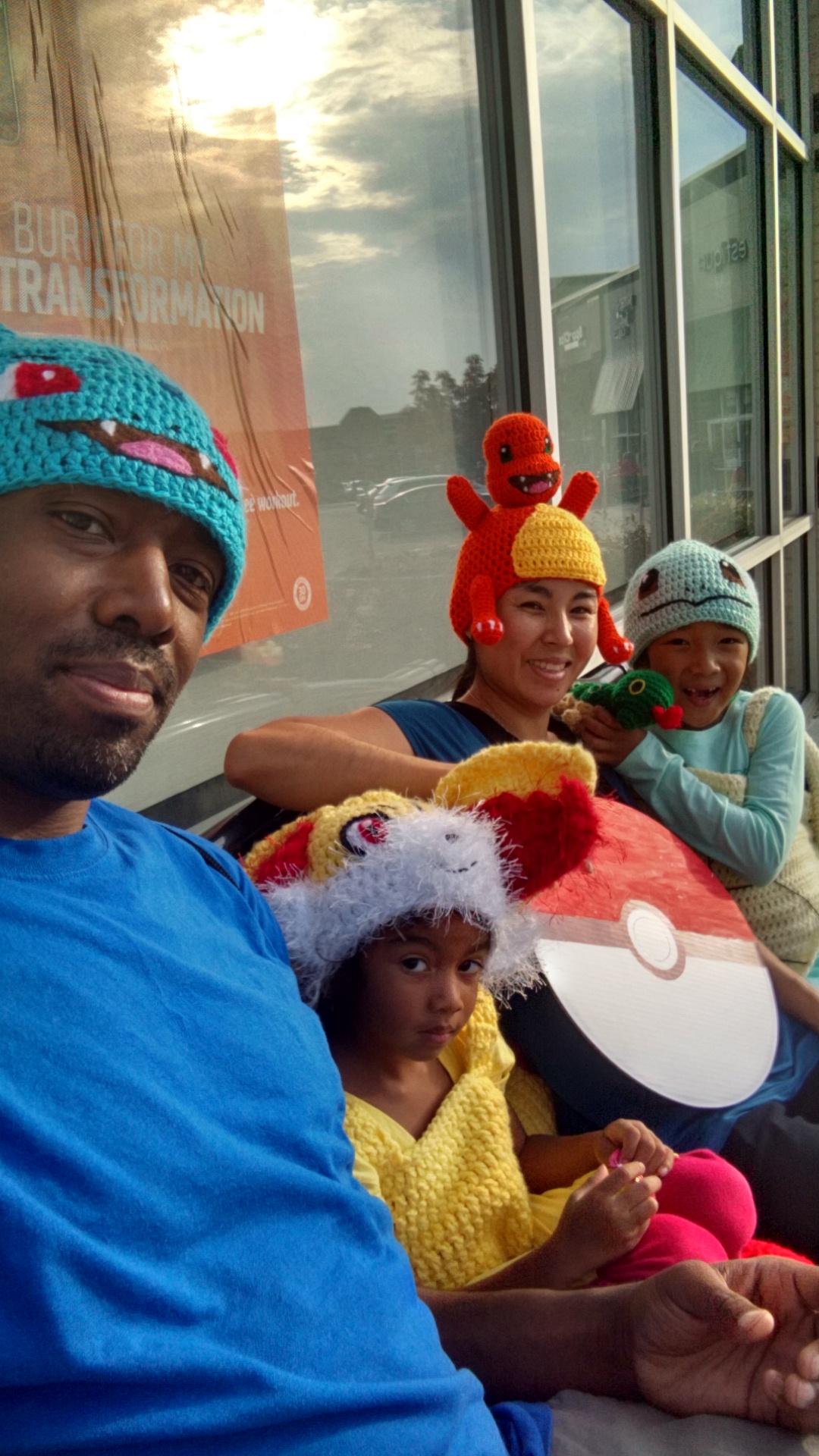 Crocheted Pokemon Family