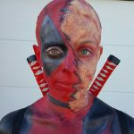 Body Paint Deadpool Costume
